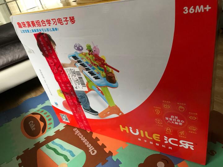 汇乐玩具(HUILE TOYS)快乐摇摇马 快乐摇摇马 儿童音乐小木马摇摇马塑料滑行车两用玩具3-6岁987 晒单图