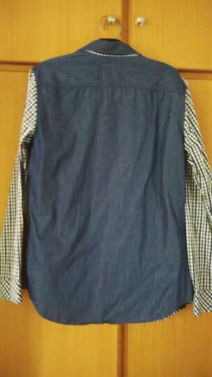 阿仕顿 男士商务时尚棉质纯色小方领长袖衬衫 黄色175/L A14116323 晒单图