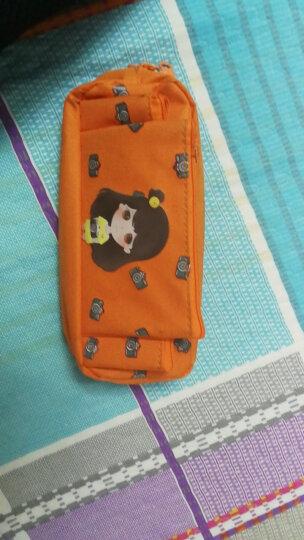创意女孩系列笔袋 学生男女可爱大容量多功能简约 文具铅笔收纳袋 橙色 晒单图