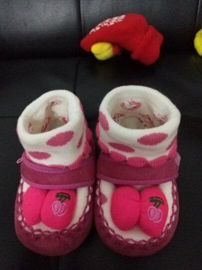 Yamilan 婴儿手工编织鞋 冬季加厚保暖 宝宝毛线鞋袜 可爱地板袜 粉色-兔子款 0-12个月/脚长12.5厘米以内 晒单图