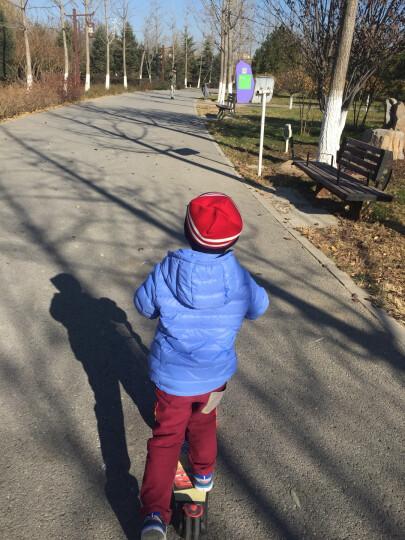 小灰鸭(XIAOHUIYA) 2017冬季新款儿童轻薄款羽绒服男女童棉衣宝宝可脱帽冬装 浅蓝色 110 晒单图
