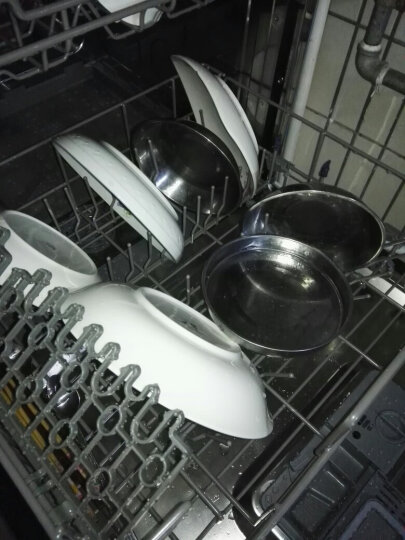 CAL 全自动洗碗机家用台式嵌入式烘干节能刷碗机 CQ59CS081Y 8套轻奢镜面 晒单图