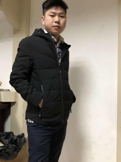 青春韵 短款轻薄羽绒服男 男士休闲商务保暖羽绒外套欧美风格男装 灰色 M 晒单图