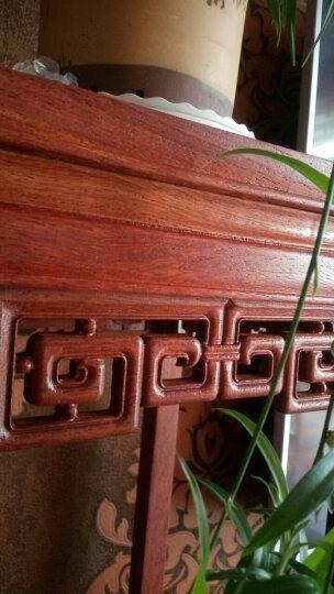 龙上龙(longshanglong)东阳木雕实木hua li 木格子阳台落地式花架中式仿古客厅盆景架 缅hua 31*31*88 晒单图