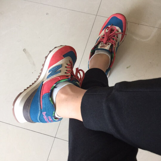 New Balance/NB 530系列男鞋女鞋复古运动休闲跑步鞋  M530CBA M530VTB/红色-黑色 38.5/240MM 晒单图