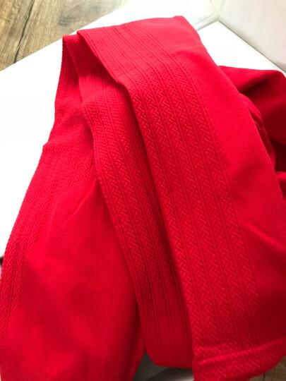 婷美内衣保暖美体束身收腹免穿文胸V领女士保暖套装PE5500 红色 均码 晒单图