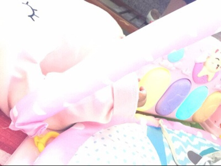 北国e家(The North E home) 婴儿健身架脚踏钢琴音乐遥控游戏毯儿童电子琴 麦克风飞机充电版(公主粉) 晒单图