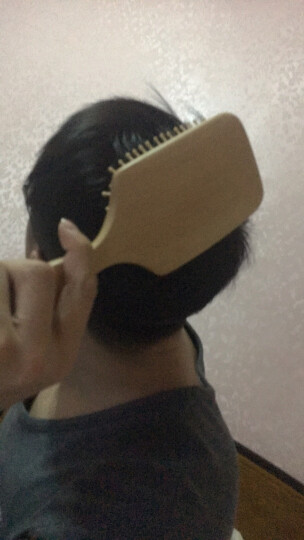 西溪子保健气囊按摩梳子头皮头部经络梳卷发面包气垫大板梳无静电 球齿 晒单图