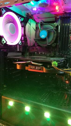 爱国者(aigo) 极光 12CM白光 电脑机箱风扇(小3P+大4P双接口/水冷排散热/减震脚垫/赠4螺丝) 晒单图