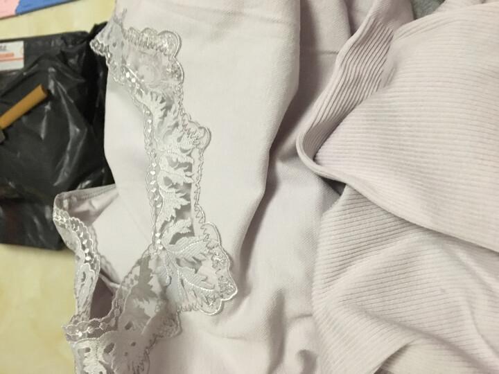 洛佩希毛衣女装针织衫2017秋冬新款韩版百搭花边领修身显瘦弹力打底衫 驼色 均码 晒单图