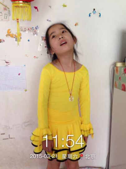 梦之艺儿童拉丁舞服装2018春季新款女童拉丁舞裙比赛考级演出服 浅玫红色 吊牌150适合140身高穿 晒单图
