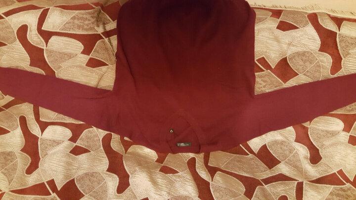 鳄鱼恤男士100%山羊绒针织V领打底毛衣男基础款纯羊绒衫 黑色 185/100A(120cm) 晒单图