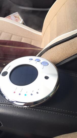 江南绣车载空气净化器太阳能汽车空气净化器负离子氧吧除异味香薰加湿器 珍珠白+送车充+精油 晒单图