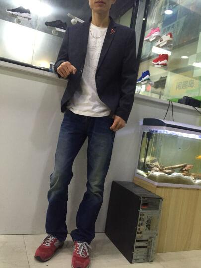 花花公子贵宾 西服男修身韩版小西装套装大码外套2018新款 灰色 170/ L(115-120) 晒单图