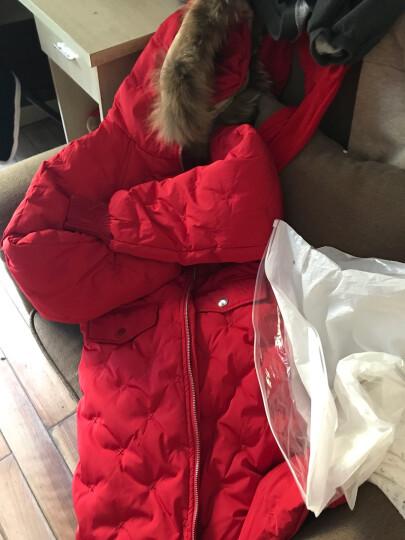 米其兒巴啦 2018新款童装女童男童羽绒服中长款加厚儿童男孩女孩大毛领小中大童保暖上衣外套 红色 160 晒单图