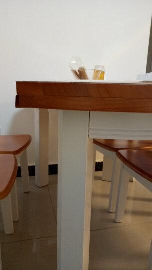 南巢 餐桌 餐桌椅组合 实木餐桌椅套装 饭桌折叠餐桌圆桌 折叠桌子 地中海 一桌六椅 晒单图