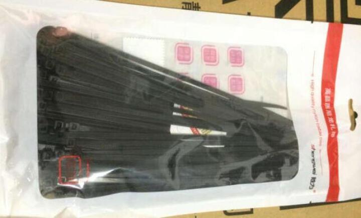 胜为(shengwei)NL-3050A 自锁式尼龙扎带 4*200黑色环保500条 固定塑料扣束/捆/扎带线 晒单图