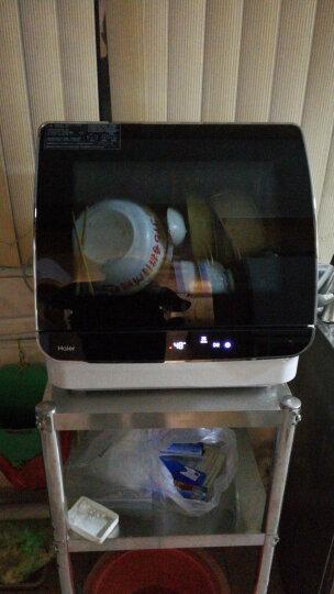 海尔(Haier)洗碗机 家用台式免安装全自动迷你小型 刷碗机 高温消毒除菌洗碗机 HTAW50STGB 鎏金黑 软水自清洁 晒单图