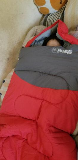 探险者(TAN XIAN ZHE)睡袋户外成人室内春夏秋冬学生双人睡袋四季加厚午休羽绒棉露营隔脏睡袋 单人浅蓝色1.8KG送睡眠三宝 晒单图