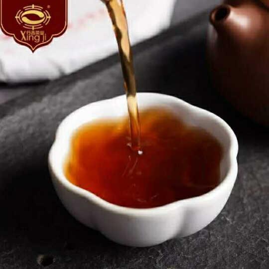 行吉茶业 礼盒装 云南普洱茶熟茶普洱茶饼普洱茶砖古树普洱茶叶357g 红色 晒单图