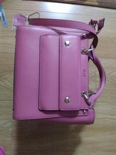 ELLE女包  款光面豹纹单肩包女斜挎包 手提包手拎包包 70666 粉红色 晒单图