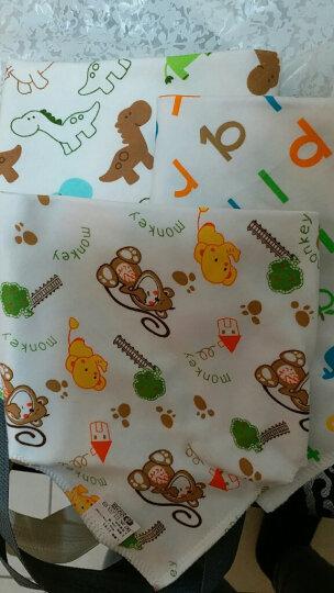 双漫婴儿口水巾 纯棉三角巾宝宝吃饭围嘴围兜宝宝口水兜新生儿 大号防水款3条装(花型随机) 晒单图