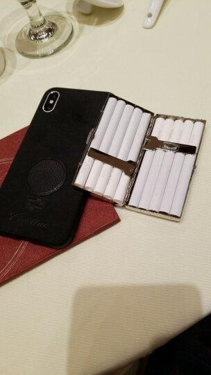 【下单减5元】双枪金属香烟盒20支装铜制铜质个性创意瓦楞设计 防潮抗压烟夹 控烟款10支装 晒单图