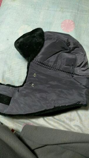 杰英仕雷锋帽子男女冬季滑雪帽户外保暖防寒帽骑车护脖口罩 灰色(A款) 晒单图