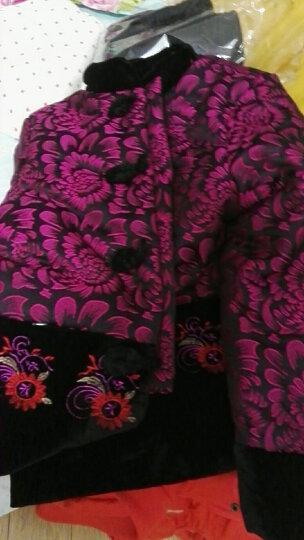 达丽莱 中老年女装棉衣奶奶装冬装老年人唐装加厚加绒棉袄老太太秋冬款上衣外套妈妈装棉服 玫红花团 XL (建议95-110斤) 晒单图