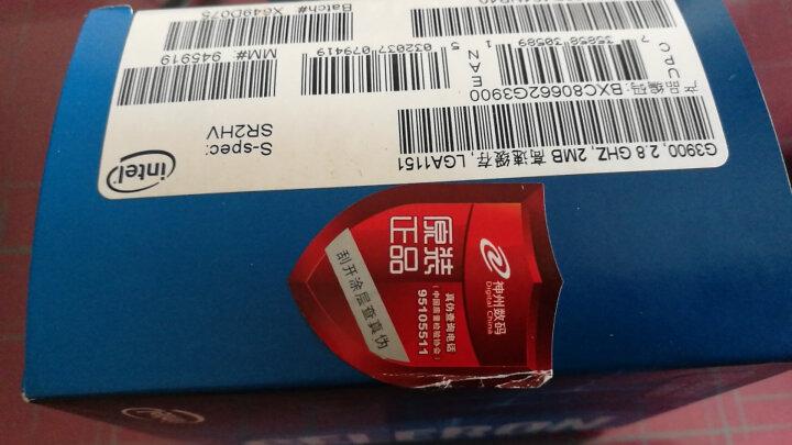 英特尔(Intel)赛扬双核 G3900 1151接口 盒装CPU处理器 晒单图
