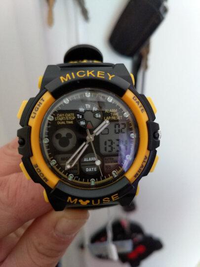 迪士尼(Disney)防水夜光儿童手表男孩 黄色米奇电子表 多功能运动表男童学生手表80008-3 晒单图