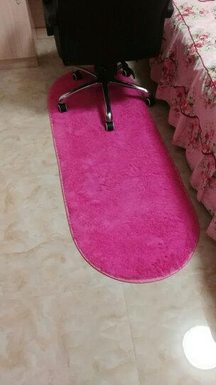 地毯家用客厅茶几卧室地毯房间床边地毯床前毯定制可爱椭圆形 紫色A 短绒60X200CM【送心形】 晒单图