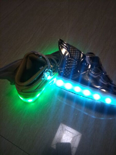 发光鞋儿童运动鞋男童鞋女童鞋 金色 32码/20cm 晒单图