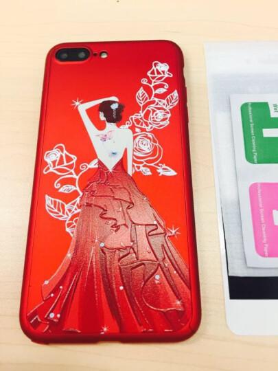 【极速发货】苹果8/7手机壳红色磨砂全包防摔挂绳适用于iPhone8/7Plus 7P/8P-5.5英寸【浮雕】蝴蝶女孩 晒单图