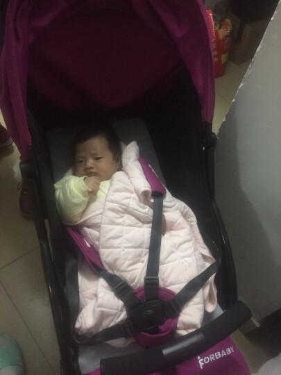 福贝贝(For Baby) 超轻便伞车婴儿推车旅行便携宝宝童车一键收车可折叠可坐可躺 轻便车粉紫色 晒单图