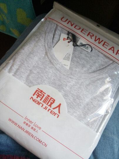 南极人男装潮流圆领短袖T恤清新夏季纯棉打底衫 白色 L(170/95) 晒单图