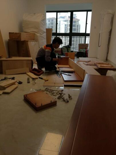 丽巢 家具 橡胶木实木 衣柜中式四门衣柜加顶柜底抽田园简约木衣橱818 六门衣柜(颜色备注) 晒单图
