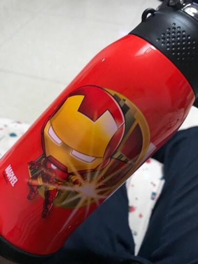迪士尼(Disney)儿童保温杯保温壶带吸管不锈钢水杯男女学生双盖杯子水壶送杯套 550ML HC6002P 公主粉色 晒单图