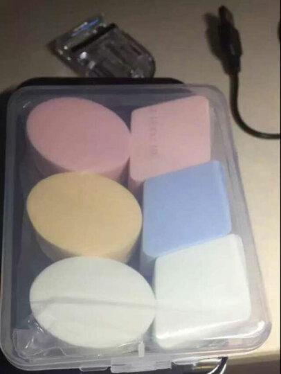 煜洛干湿两用化妆粉扑柔软海绵化妆棉菱形水滴6块装粉扑带盒气垫美妆蛋 晒单图
