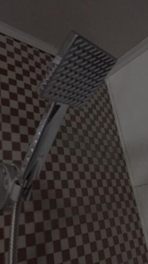 元媛 冷热 淋浴水龙头 大花洒喷头套装 热水器配件 全铜入墙式混合洗浴增压莲蓬头 单把双孔 冲凉花洒支架升降杆 太阳能简易花洒套装 1.5米管 晒单图