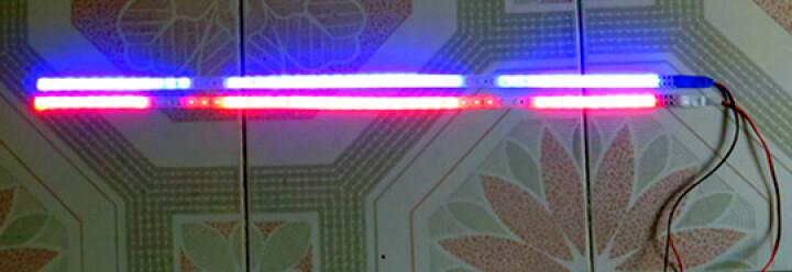 维友赞 汽车摩托车用霹雳游侠灯助力车装饰灯鬼火改装灯高亮LED闪灯扫描跑马软灯条灯带 蓝色 60厘米 晒单图
