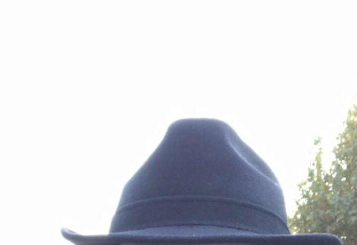 中年人帽子男士礼帽秋冬季羊毛呢子英伦爵士帽中老年人冬天礼帽老人老头帽爸爸帽 纯黑色 头围56CM 晒单图
