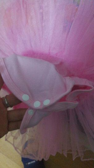 艾舞戈 儿童舞蹈服装秋冬女童芭蕾舞裙长袖练功服表演服连衣裙蓬蓬裙 黑色-长袖-开裆 120码 (身高120-130cm) 晒单图