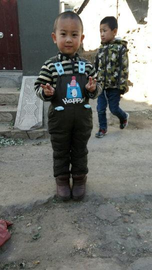 童小鸭之星(TONGXIAOYAZHIXING) 儿童羽绒服宝宝背带裤男女童羽绒裤可开档 军绿色 110 晒单图
