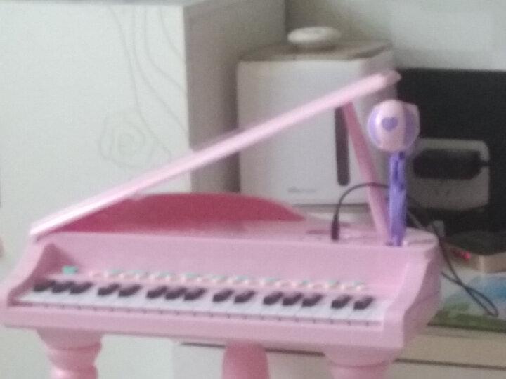 育儿宝 儿童电子琴钢琴1-3-6岁男孩女孩宝宝音乐玩具 拍拍鼓电子琴【蓝色】 晒单图