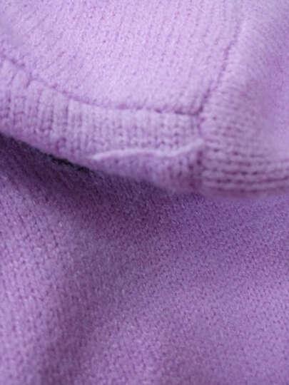 伍格曼 半高领套头毛衣女2018春装新款韩版时尚线衣宽松百搭保暖打底针织衫女上衣 粉红色 均码 晒单图