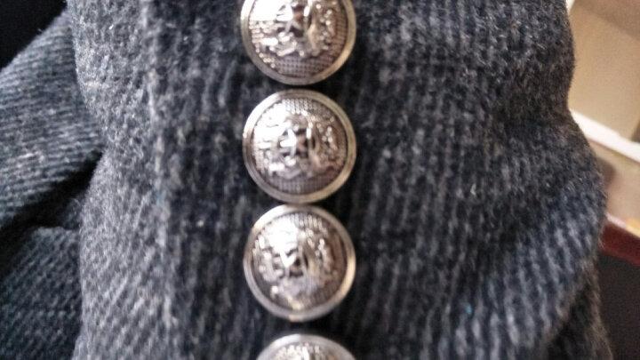英伦浮雕金属西装纽扣男装西服扣大衣扣子金色衣服钮扣风衣扣外套 5#银色点油 22mm一颗 晒单图