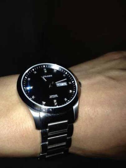 古尊(GOLGEN)情侣手表对表商务气质型休闲款英伦风水钻钢带机械表情侣款男表女表6097 女表 黑盘 成熟典范 晒单图