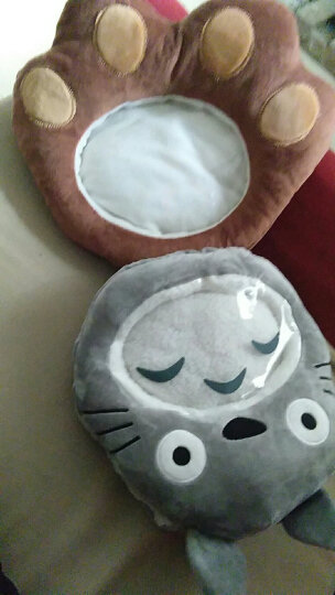 蒂利仕 毛绒玩具暖手宝卡通创意可视手暖双插手捂可放热水袋玩手机暖手宝 棕色猴子 30-35cm 晒单图