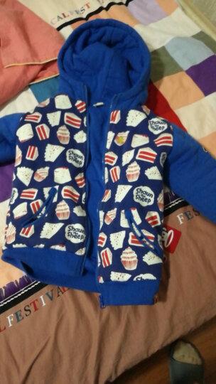 小羊肖恩 童装秋冬款儿童外套男童外套上衣中大童女童加厚保暖棉服外套 2W6SS3247-1大红 150cm 晒单图